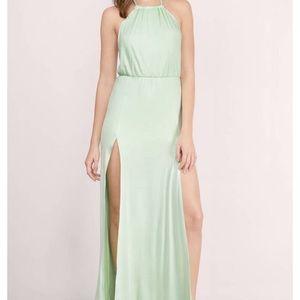 Tobi long maxi mint green dress